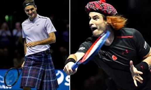 Mặc váy thi đấu, Federer vẫn hạ đẹp Murray