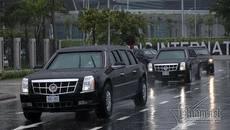 Dàn siêu xe của Tổng thống Trump lăn bánh ở Đà Nẵng