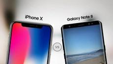 iPhone X sạc pin siêu chậm, Galaxy Note 8 ngốn pin như uống nước