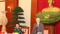 Tổng bí thư gặp mặt các đại biểu ưu tú thanh niên Quân đội