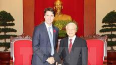 Tổng bí thư, Chủ tịch nước, Chủ tịch QH tiếp Thủ tướng Canada