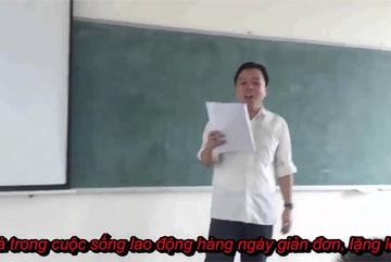 Thầy giáo gây sốt mạng xã hội vì dạy học bằng rap