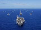 Hình ảnh 7 tàu sân bay hạt nhân Mỹ cùng ra biển
