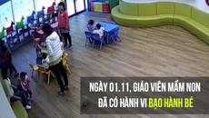 Cô giáo mầm non xô trẻ ngã va đầu vào bàn phải quỳ xuống xin lỗi phụ huynh