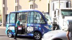 Xe buýt không người lái gặp nạn ngay ngày khai trương dịch vụ