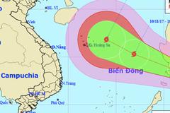 Thời tiết 10/11: Biển Đông hứng bão số 13