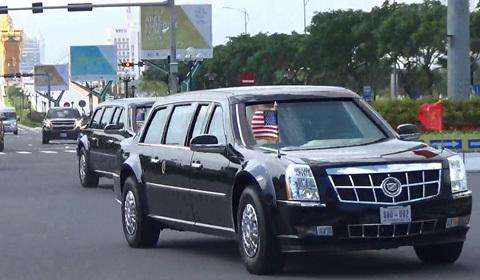 đoàn xe Tổng thống Trump