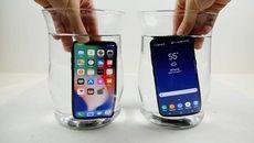 iPhone X hay Galaxy S8 thắng khi bị đóng băng dưới nước?