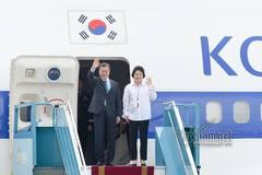 Tổng thống Hàn Quốc và phu nhân đến Việt Nam