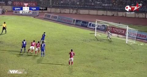 Quảng Nam 2-1 Than Quảng Ninh: Đinh Thanh Trung sút 11m