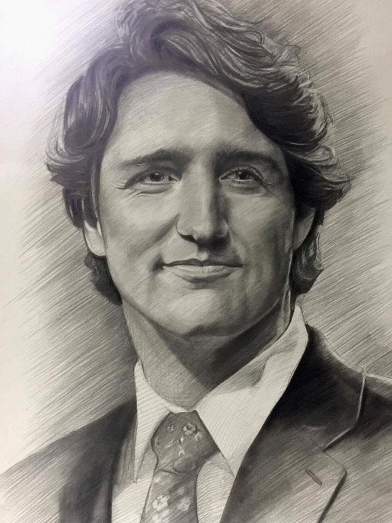 thu tuong canada nhan tan tay buc tranh chi cua nam sinh 9x 1 - Bức vẽ của 9x Quảng Ngãi được chuyển tận tay Thủ tướng Canada