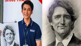 Bức vẽ của 9x Quảng Ngãi được chuyển tận tay Thủ tướng Canada