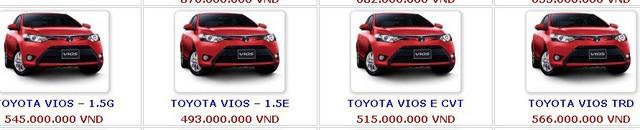 ô tô giảm giá,Toyota Vios,ô tô Nhật,giá ô tô,Hyundai Santa Fe,ô tô Mitsubishi