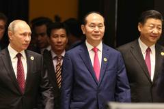 Hình ảnh Lãnh đạo APEC tham dự phiên khai mạc Hội nghị cấp cao