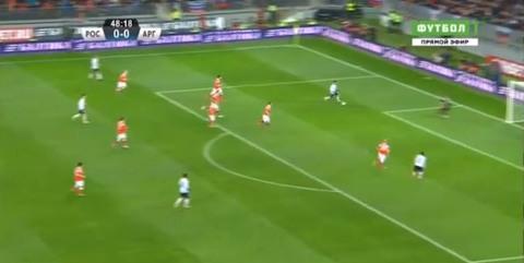 Nga 0-0 Argentina phút 49 Messi
