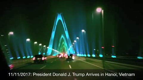 Cầu Nhật Tân rực rỡ trên Instagram Tổng thống Trump
