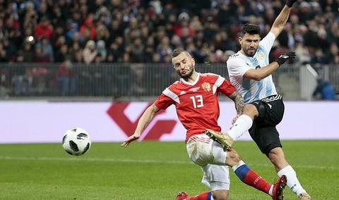 Nga 0-0 Argentina phút 24 Aguero