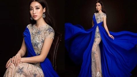 Đỗ Mỹ Linh sải bước vô cùng tự tin, chuyên nghiệp trên sàn diễn của Miss World 2017.