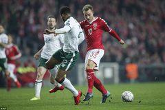 Đan Mạch bị Ireland cầm chân ở lượt đi play-off World Cup 2018