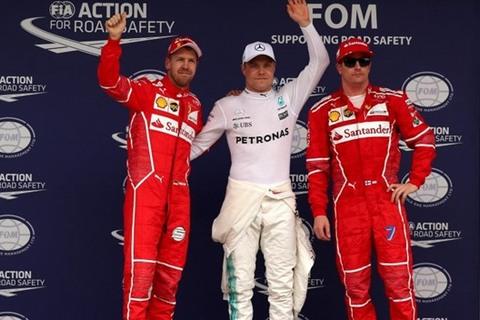 Phân hạng F1 Brazil: Valtteri Bottas giành pole, Hamilton tông rào