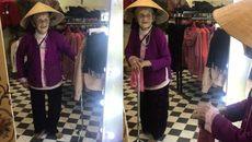 Cụ bà 103 tuổi nói chuyện với mình trong gương gây xúc động