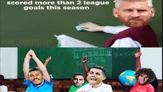 Messi đứng giảng bài, Ronaldo vừa học vừa khóc