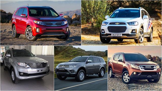xe đa dụng,SUV,MPV,Crossover,xe bán tải,pickup,ô tô giảm giá