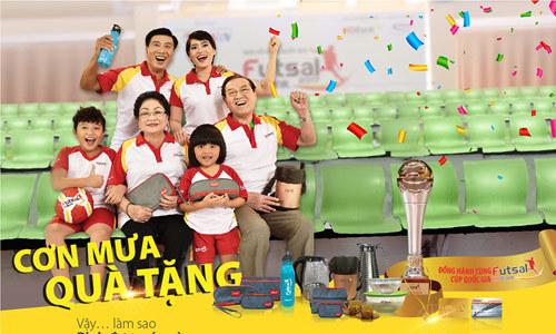 Rinh cúp vàng Futsal 1 ký cùng HDBank