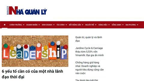 Đình bản 3 tháng Tạp chí điện tử Nhà quản lý