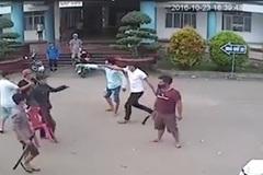 2 nhóm thanh niên hỗn chiến trên đường, nổ mìn tự chế