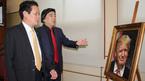 Tranh ghép gốm chân dung lãnh đạo các nền kinh tế APEC