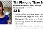 7 tỷ USD trong tay tỷ phú Phạm Nhật Vượng, Nguyễn Thị Phương Thảo