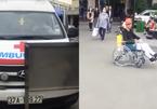 Bảo vệ BV Bạch Mai chặn xe tỉnh vào đón bệnh nhân bại liệt