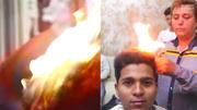 Đốt đầu khách cháy đùng đùng, thợ cắt tóc gây choáng