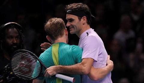 Roger Federer 1-2 David Goffin