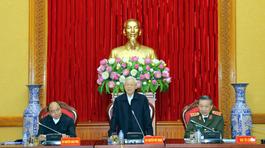 Tổng bí thư, Thủ tướng dự, chỉ đạo phiên họp Thường vụ Đảng ủy Công an TƯ