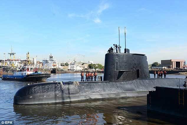 Mừng hụt khi tìm kiếm tàu ngầm Argentina mất tích