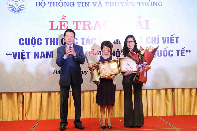 Trao giải 17 tác phẩm báo chí chủ đề Việt Nam hội nhập quốc tế
