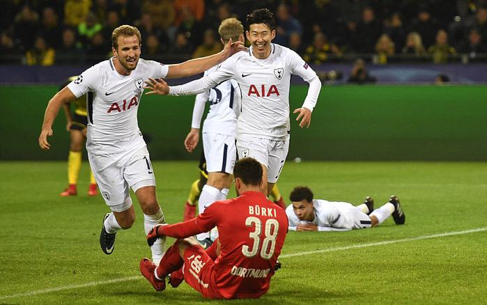 Tottenham lội ngược dòng đánh gục Dortmund