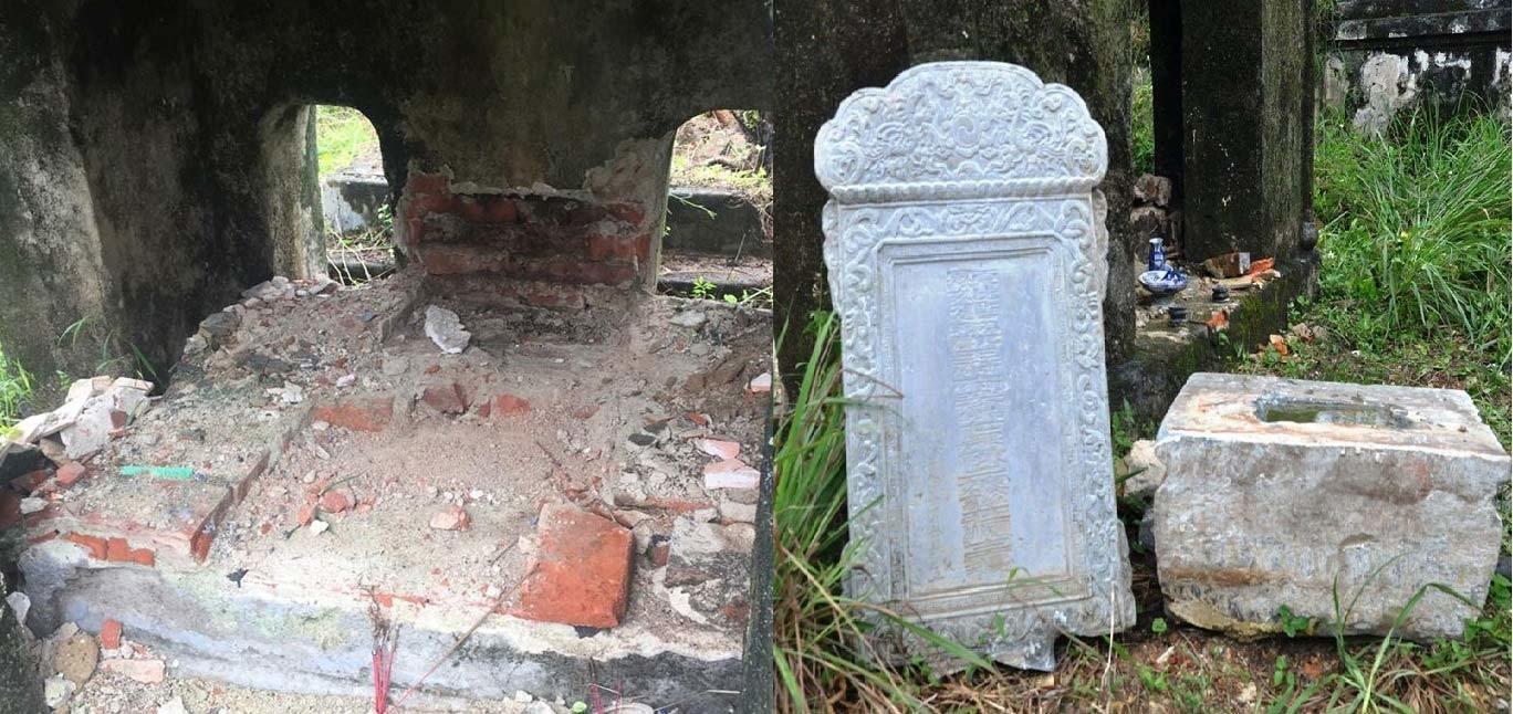 Lăng mộ bị đào xới,vua triều nguyễn,tìm kho báu,Vua Dục Đức,thành phố Huế
