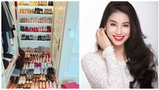 Phạm Hương khoe tủ giày xa hoa toàn hàng hiệu xa xỉ
