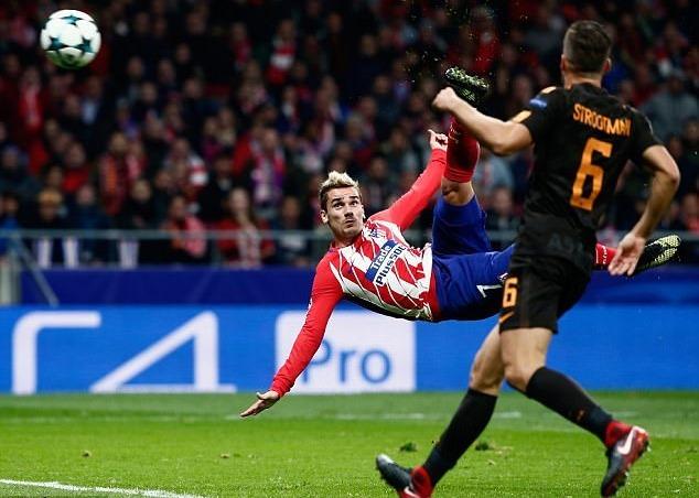 Griezmann lập siêu phẩm, Atletico thắp lên cơ hội đi tiếp