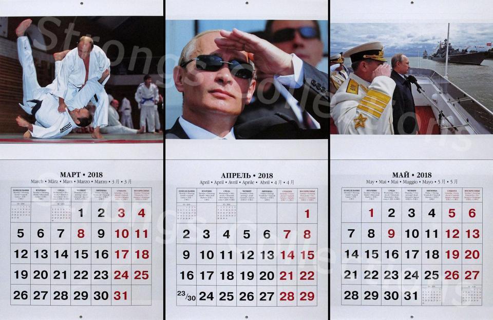 Hình ảnh Putin 'cực ngầu' trên bộ lịch mới