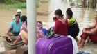 Nước sông dâng cao, người Phú Yên hối hả chạy lụt