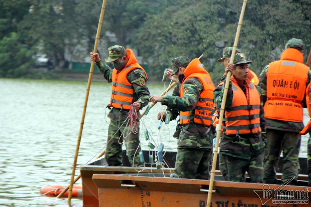 nạo vét,hồ Hoàn Kiếm,hồ Gươm,rà phá bom mìn