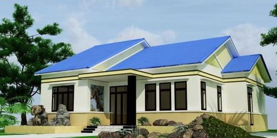10 mẫu nhà 1 tầng kiểu dáng mới 2018