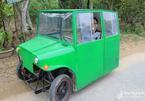 Người đàn ông chế 'ô tô mi ni' từ xe đạp điện để chở con đi học