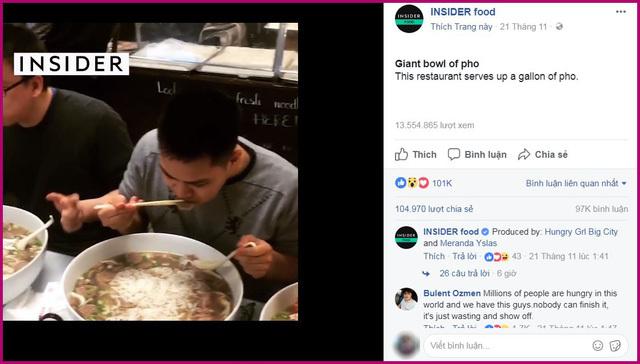Tô phở 2kg thịt bò, 2kg bánh, 4 lít nước: Ăn hết thưởng 100 USD