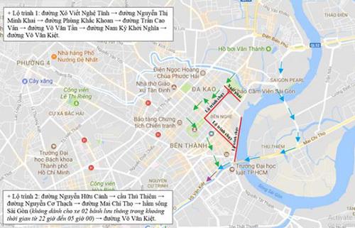 TP.HCM cấm xe nhiều đường để tổ chức giải marathon