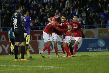 Video bàn thắng Than Quảng Ninh 4-4 Hà Nội